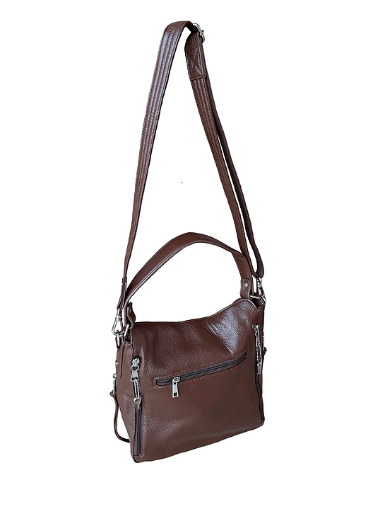Cowhide Leather Concealed Carry Purse 7035 R front2 Roma Leathers