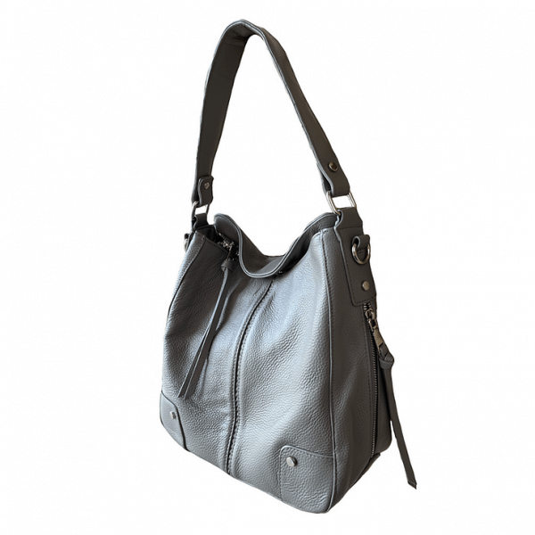 Cowhide Leather Concealed Carry Purse 7035 R front3 Roma Leathers