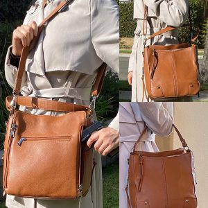 Cowhide Leather Concealed Carry Purse