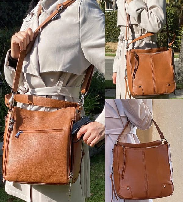 Cowhide Leather Concealed Carry Purse 7035 R full Roma Leathers