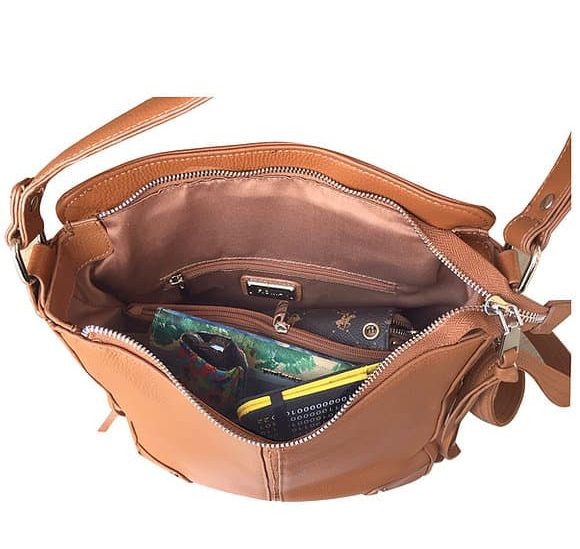 Cowhide Leather Concealed Carry Purse 7035 R inside Roma Leathers