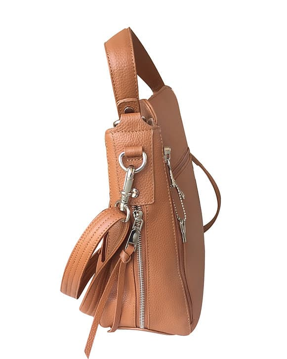 Cowhide Leather Concealed Carry Purse 7035 R side Roma Leathers
