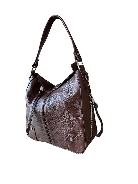 Cowhide Leather Concealed Carry Purse 7035 R side2 Roma Leathers