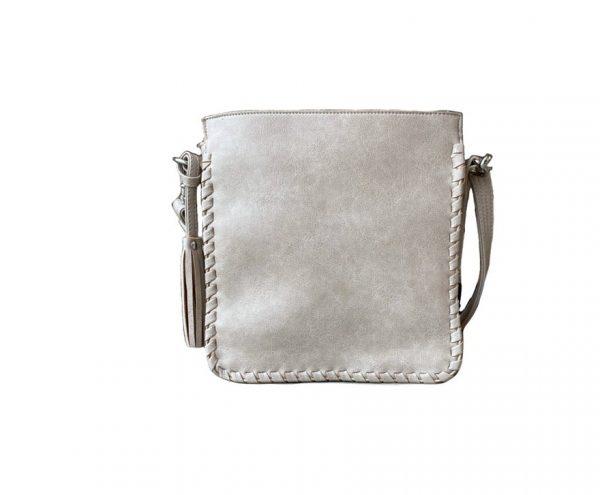 Cream Vegan Leather Concealed Carry Crossbody bag 8008R Roman Leather