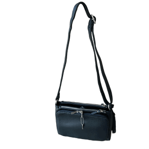 Crossbody Compact Concealed Carry Purse 8013R Black Straps Roma Leathers