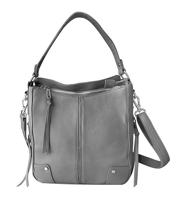 Gray Cowhide Leather Concealed Carry Purse 7035 R Roma Leathers
