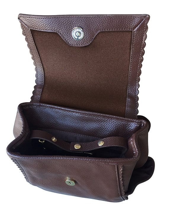 Leather Backpack Concealed Carry Purse 7049 inside2 Roma Leathers