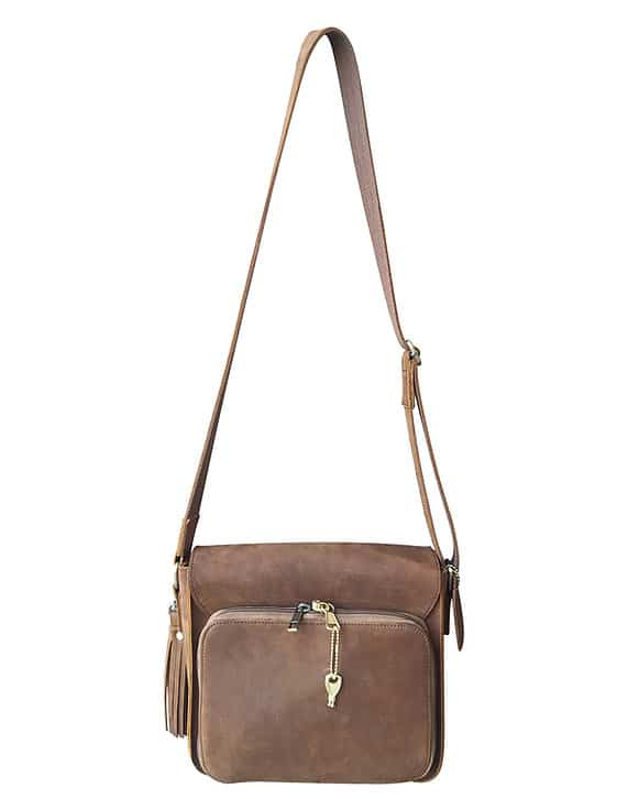 Leather Cross Body Concealed Carry Bag 9008 back Roma Leathers