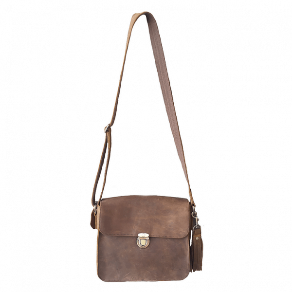 Leather Cross Body Concealed Carry Bag 9008 front Roma Leathers