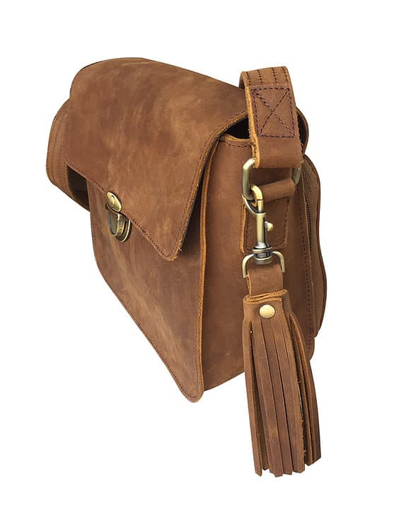 Leather Cross Body Concealed Carry Bag 9008 side Roma Leathers