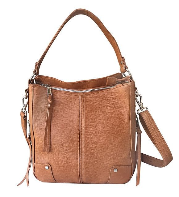 Light Brown Cowhide Leather Concealed Carry Purse 7035 R Roma Leathers