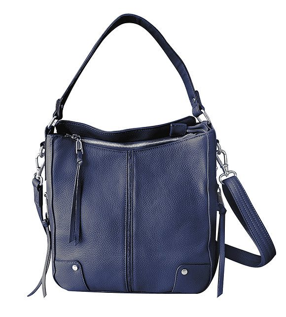 Navy Cowhide Leather Concealed Carry Purse 7035 R Roma Leathers