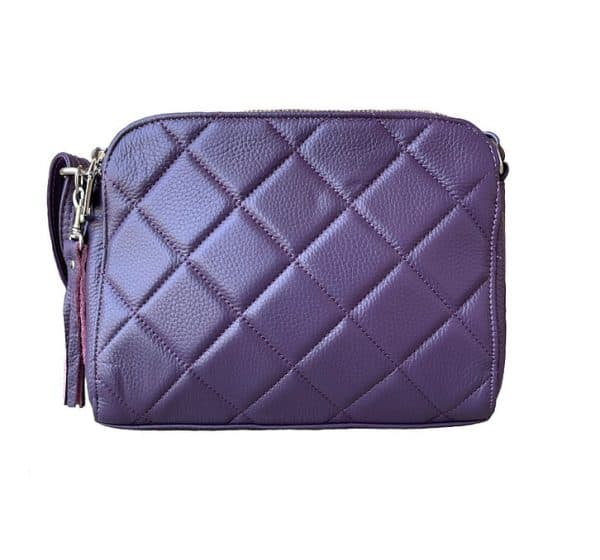 Purple Compact Leather Concealed Carry Purse 7048 Roma Leathers