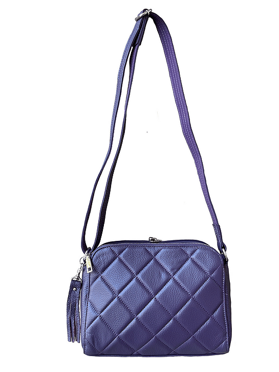 Purple Compact Leather Concealed Carry Purse 7048 full Roma Leathers
