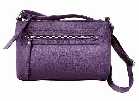 Purple Compact Leather Concealment Purse 7013 R Roma Leathers