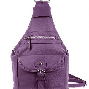 Purple Snap Buckle Concealed Carry Backpack 7034 R Roma Leathers