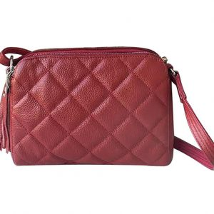 Quilted Compact Leather Concealed Carry Purse