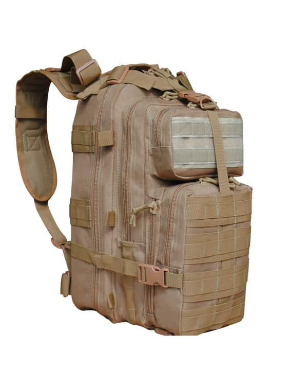 Tan Tactical Backpack Roma Leather