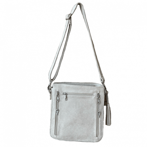 Vegan Leather Concealed Carry Crossbody bag 8008R back Roman Leather