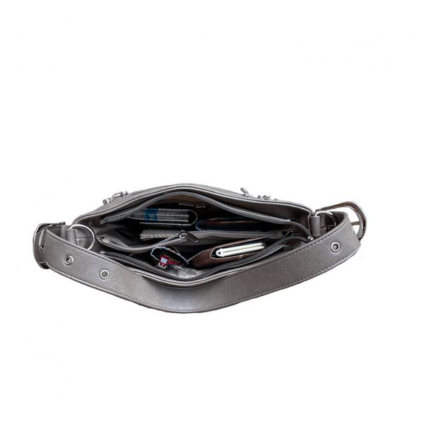 Vegan Leather Concealment Purse 8009R inside2 Roma Leathers