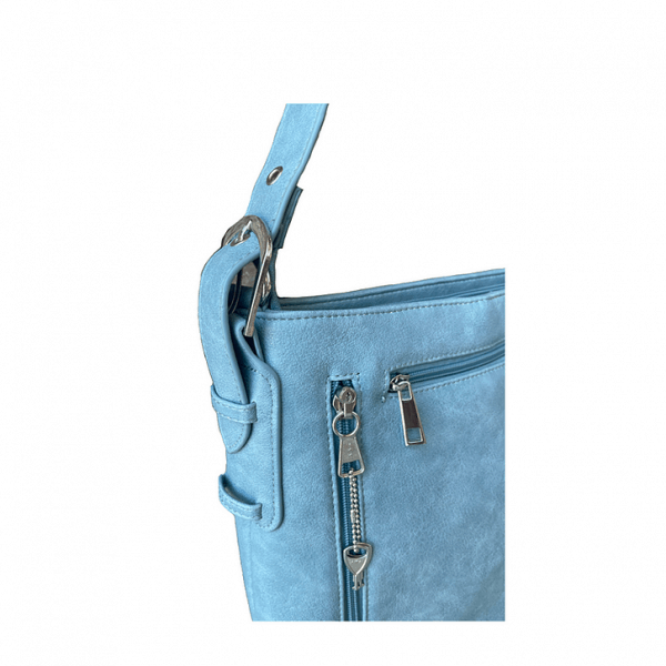 Vegan Leather Concealment Purse 8009R zippers Roma Leathers