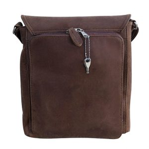 Western Leather Concealed Carry Satchel 9005 Back Roma Leathers
