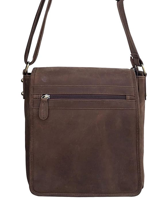 Western Leather Concealed Carry Satchel 9005 front Roma Leathers