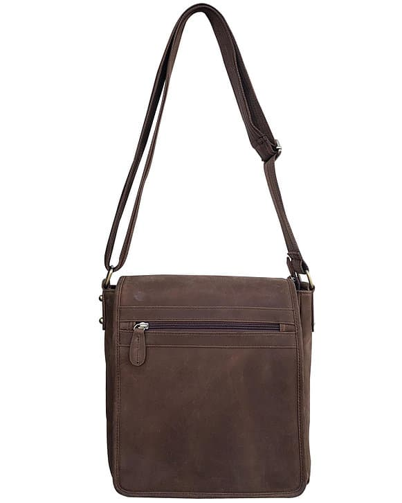 Western Leather Concealed Carry Satchel 9005 front straps Roma Leathers