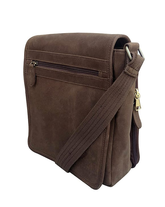 Western Leather Concealed Carry Satchel 9005 side Roma Leathers