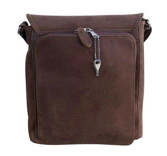 Western Leather Fringe Conceled Carry Crossbody Bag 9002 back Roma Leathers