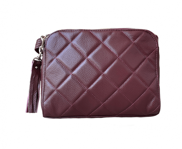 Wine Compact Leather Concealed Carry Purse 7048 Roma Leathers