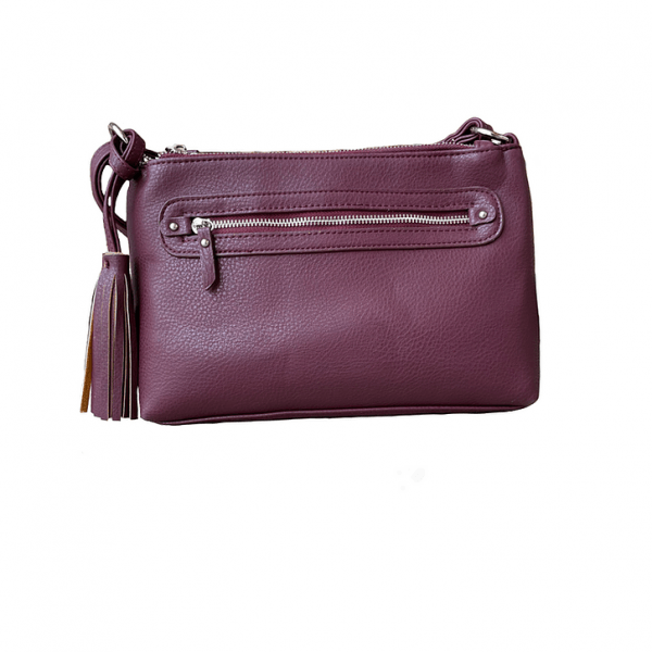 Wine Crossbody Compact Concealed Carry Purse 8013R Roma Leathers